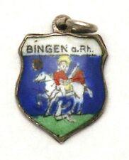 Bingen am Rhein Coat of Arms Enamel Travel Shield Silver Bracelet Charm Germany