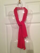 Lady Women's Fashion Elegant Red Long Scarf Crinkle Fabric