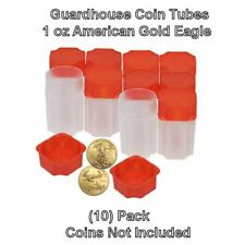 Square Coin Tubes by Guardhouse 50 pack. American Gold Eagle 1oz