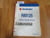2005 SUZUKI RM125 Owner Owners Owner's Service Manual