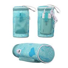 Portable Usb Bottle Warmer Heater Travel Baby Kids Cup Milk Feeding Bag Cover Us