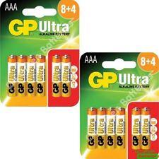 24 x AAA GP Ultra Alkaline Batteries - LR03, MX2400, MN2400, MICRO.