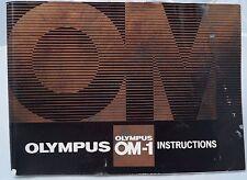 Olympus OM-1 35mm camera instruction manual 1975