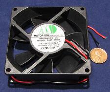 Motor-One DC Cooling Fan 12V 0.22A, 45 CFM 2600 RPM, 80mm x 25mm 220mA D08T12HWS