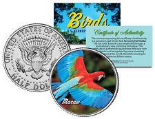 Macaw Bird JFK Kennedy Half Dollar US Colorized Coin
