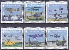 I O M 2008 90th Anniversary of RAF in Se-tenant Strips UM SG1406-11 Cat £8.50