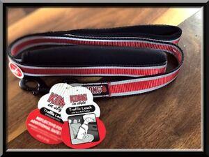 KONG Red Reflective Padded Comfort Handle Seat Belt Tether 4 ft Dog Leash