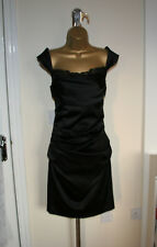 NEW Designer Suzi Chin From Maggy Boutique Sexy Fitted Black Dress Sz UK 12