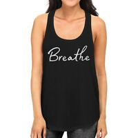 Breath Tank Top Work Out Sleeveless Shirt Cute Yoga Racerback