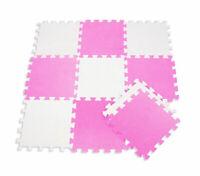 Tappeto puzzle in schiuma morbido per bambini 10 pezzi giocattoli antiurto rosa