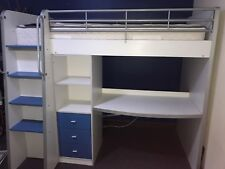 bunk bed with desk (blue or purple)