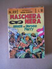 Maschera Nera n°22 1964 Serie Rubino ed. Corno [C97] BUONO di resa