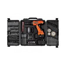 Cordless Drill Set Power Tool Tools Case Kit Keyless Chuck Masonry Bits Combo