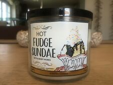 Bath & Body Works Kerze Hot Fudge Sundae, 411g, 3-Docht, 1x kurz gebrannt