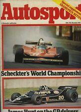 Autosport 20th 1979 de diciembre * James Hunt en 1979 controladores F1 *