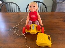 1969 Remco Tumbling Tomboy Doll, Remote With Go-Cart Complete All Original