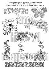 *NEW* Parchment Craft Template No.111 Floral Daisy Border Card Tracing Making