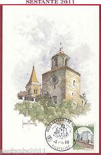 ITALIA MAXIMUM MAXI CARD GUALDO TADINO PERUGIA 1989 ANNULLO FILATELICO C40