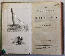 Heyer la vortheile y el procedimiento al baumroden 1826 leñador baumfäller
