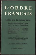 COLLECTIF, L'ORDRE FRANÇAIS : ÉCHEC AU COMMUNISME (NUMÉRO SPÉCIAL)
