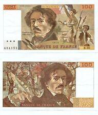 100 FRANCS DELACROIX de 1979   B. 20  Numéro 0476434151