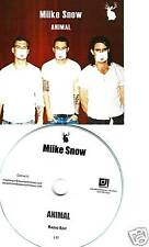 MIIKE SNOW Animal RADIO EDIT TST PRESS PROMO DJ CD Single mike