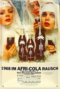 Afri Cola - 1968 im Rausch Blechschild, 20 x 30 cm, gewölbt & Motiv geprägt