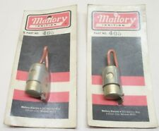 (2) NOS Mallory #405 Distributor Ignition Condensers, New Sealed Packages