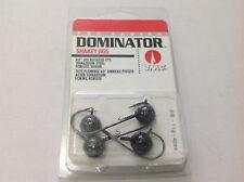 4 x VMC Dominator Shakey Jig Fishing 11g 3/8 Black DSH38-BK soft plastics