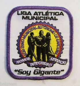 VINTAGE EMBROIDERED PUERTO RICO POLICE PATCH / LIGA ATLETICA MUNICIPAL CAROLINA