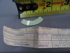 NOS Yamaha Instrument Panel Label Decal 88-01 VK540 Phazer Ovation  8V0-77741-20