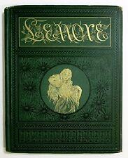 RARE Antique 1886 EDGAR ALLAN POE Poems Death Gothic Horror LENORE Occult Book
