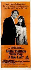 "Original Vintage Movie Poster film ""A New Leaf"" starring Walter Matthau 1971"