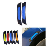 Blue+Black Reflective Car SUV Warning Stickers Self-adhesive Tape Bumper Strips