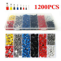 1200Pcs Insulated Cable Lugs Connector Terminal Wire Crimp Cord End Fe ASL
