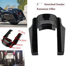 5'' Black Rear Stretched Fender Extension Filler For Harley Touring Bike 14-17