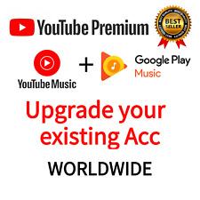 Youtube Upgrade Premium Red  & Music Premium 12 Months Fast & Easy