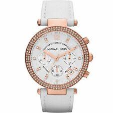 Michael Kors MK2281 Parker Ladies Chronograph Quartz Leather Strap Watch