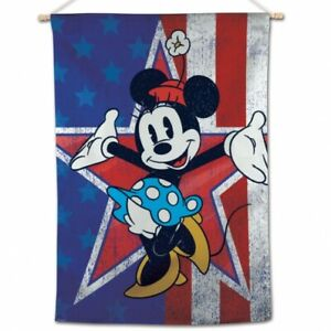 "Minnie Mouse Americana House Flag Disney Licensed Star 28"" x 40"""