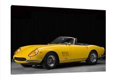 1965 Ferrari 275 GTB Spider 30x20 Inch Canvas - Classic Car Framed Picture Print