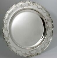 Reed & Barton Hepplewhite Engraved Sterling Silver Platter Tray Exceptional Rare