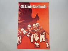 1960s Vintage St Louis Cardinals Big Red Poster 36x24 NFL Collectors Series 1968