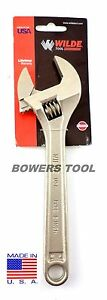 Wilde Tool 8 in. Adjustable Wrench MADE IN USA Heat Treated Alloy Steel AWC8