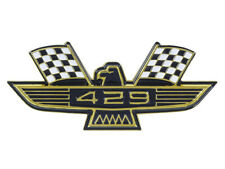 New 429 Ford Eagle Emblem Gold Plating Black And White Flags Galaxie Fairlane