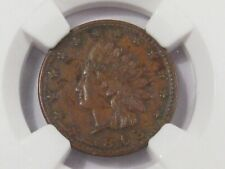 1863 CIVIL WAR Token F-79/351a Indian/Crossed Cannon. NGC UNC Details (obv dam)