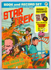 """BOOK & RECORD SET """"Star Trek - The Crier in Emptiness"""" Power Records 1975!"""