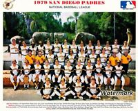 MLB 1979 San Diego Padres Team Picture Color  8 X 10 Photo Picture