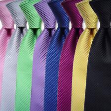 Mens Striped Business Formal Woven Silk Ties Wedding Groomsmen Party Tie Necktie