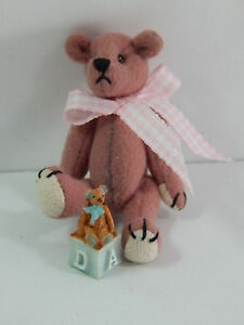 "World of Miniature Bears 2.5"" Cashmere Bear Bear's Toy #5325A"