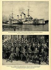Japonés acorazado Yakumo * Vulkan Werft Bredow en Szczecin bildd. 1900